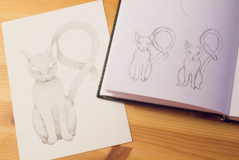 16-nine-cat-sketch